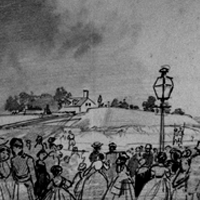 People of Baltimore witnessing the Erection of the Fortifications by Warren Zouaves