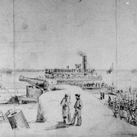 Landing of Gen. Pope's Army on the Kentucky Shore